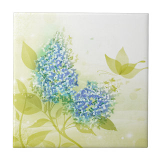 Lilacs in Full bloom Small Square Tile