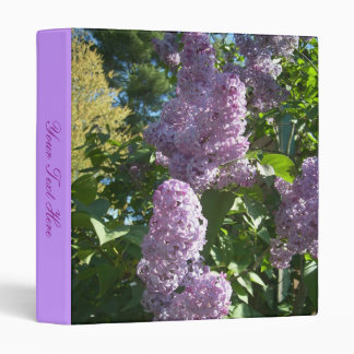 Lilacs In Springtime Binder w/ your text