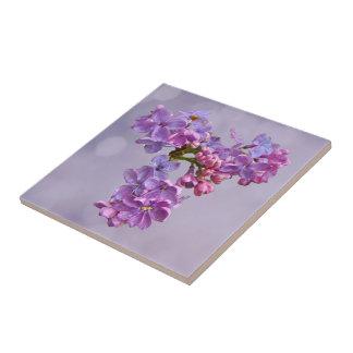 Lilacs in Springtime Tile