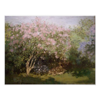 Lilacs in the Sun by Monet Print