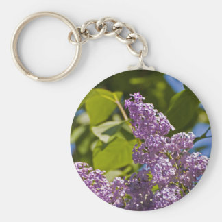Lilacs in the Sun Keychain