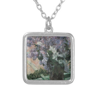 Lilacs in the Window Silver Plated Necklace