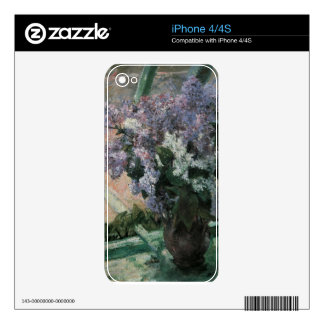 Lilacs in the Window Skin For The iPhone 4