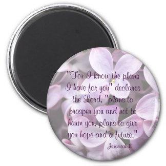 Lilacs Jeremiah 29:11 Magnet