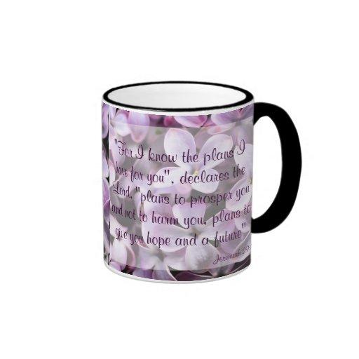 Lilacs Jeremiah 29:11 Mug