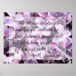 Lilacs Jeremiah 29:11 Poster
