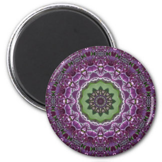 Lilacs Kaleidoscope 2 Inch Round Magnet
