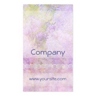 Lilacs & Lace Light Double-Sided Standard Business Cards (Pack Of 100)