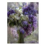Lilacs Of Love Art Postcard