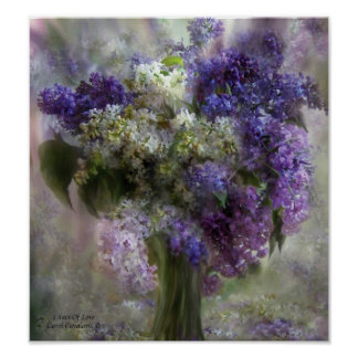 Lilacs Of Love Art Poster/Print Poster