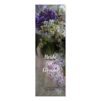 Lilacs Of Love Bookmark Double-Sided Mini Business Cards (Pack Of 20)