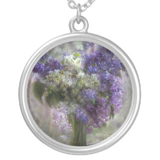 Lilacs Of Love Wearable Art Necklace