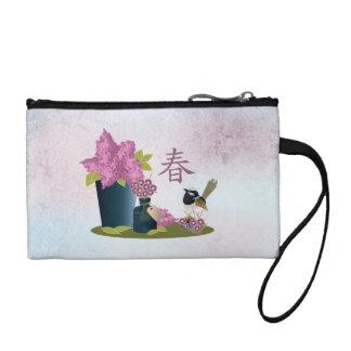 """Lilacs perfume and a bird """"Spring"""" Coin Purse"""