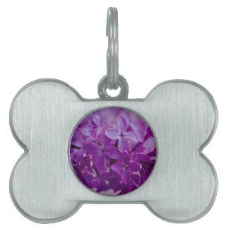 Lilacs Pet Name Tags