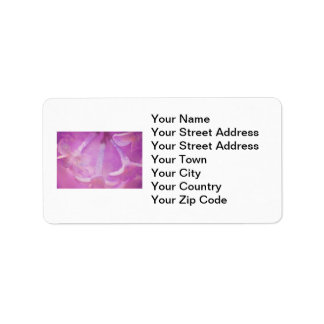 Lilacs Photo with Hearts Design Address Label