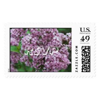 Lilacs RSVP Stamp