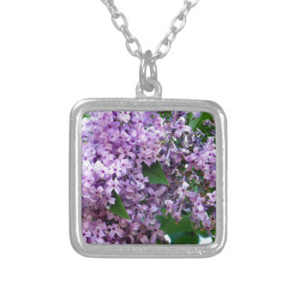 Lilacs Silver Plated Necklace