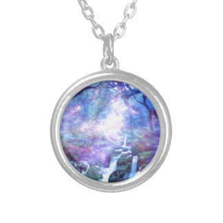 Lilannah Falls Round Pendant Necklace
