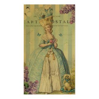 Lilas au printemps on gold business card template