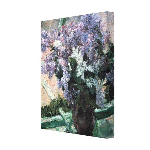 """Lilas de Cassatt las """"en una ventana """" Impresiones En Lona"""