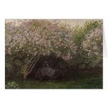 Lilas de Claude Monet el  , tiempo gris, 1872 Tarjeta De Felicitación