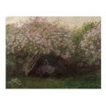 Lilas de Claude Monet el  , tiempo gris, 1872 Tarjetas Postales