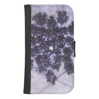 Lilas de color morado oscuro billetera para galaxy s4