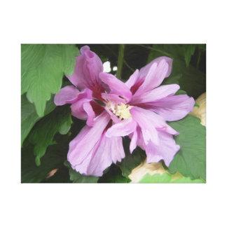 Lilás de Flor Hibisco Impresión En Lona