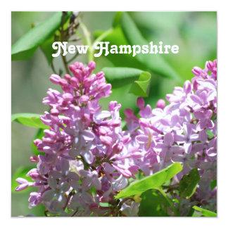 """Lilas de New Hampshire Invitación 5.25"""" X 5.25"""""""