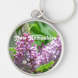 Lilas de New Hampshire Llavero Redondo Plateado