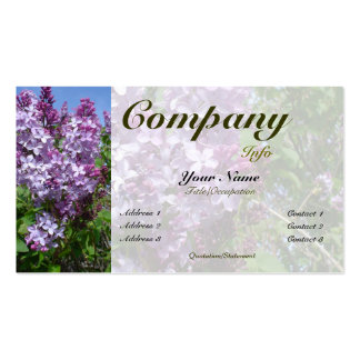 Lilas de Purplke en color del Floración-personaliz Tarjeta De Visita