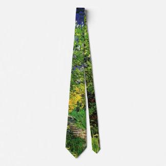 Lilas de Van Gogh, flores del vintage, bella arte Corbata Personalizada