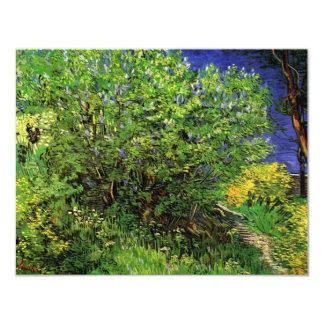 Lilas de Van Gogh, flores del vintage, bella arte Invitación 10,8 X 13,9 Cm