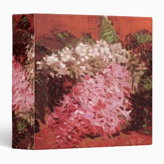 Lilas de Van Gogh, flores rosadas del vintage,