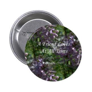 lilas del ~ proverbs17-17 pin redondo de 2 pulgadas