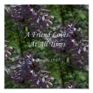 lilas del ~ proverbs17-17 póster