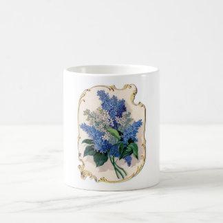 Lilas del vintage taza