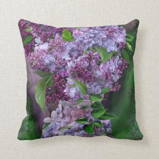 Lilas en almohada del decorador del arte del