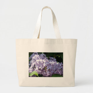 Lilas en la plena floración bolsa tela grande