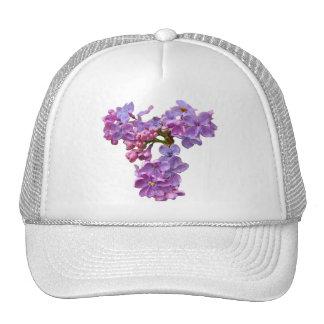 Lilas en primavera gorros bordados