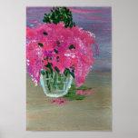 Lilas en un florero poster
