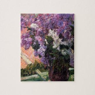 Lilas en una ventana de Mary Cassatt Puzzles Con Fotos