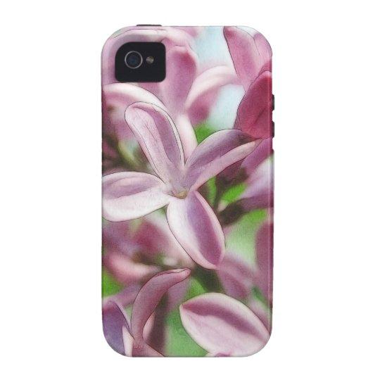 Lilas frescas de la primavera funda iPhone 4