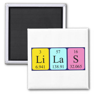 Lilas periodic table name magnet