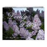Lilas preciosas calendario de 12 meses