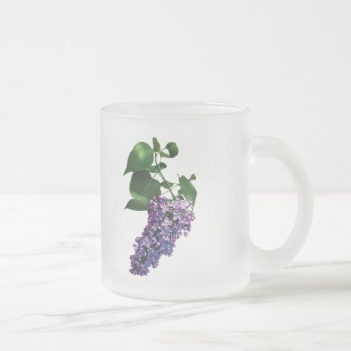Lilas púrpuras agraciadas taza