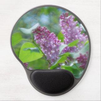 Lilas púrpuras alfombrilla con gel