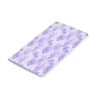 Lilas púrpuras bonitas cuaderno grapado