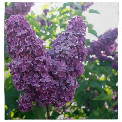 Lilas púrpuras bonitas servilletas imprimidas