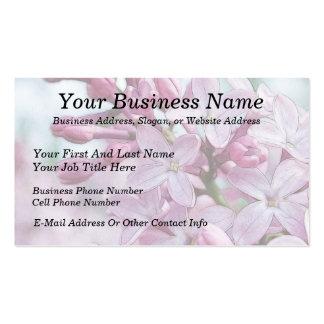 Lilas púrpuras bonitas plantilla de tarjeta personal